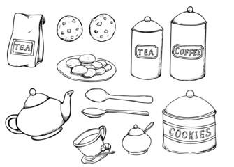 Teatime, Kaffeetrinken, Tee, Kaffee, Kekse
