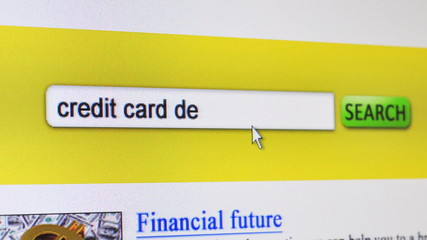 Credit card debt - fictional search engine