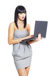 elegant businesswoman with notebook