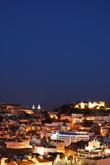Beautiful nightscene in Lisbon, Portugal