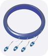 Illustration of blue coloured bracelet