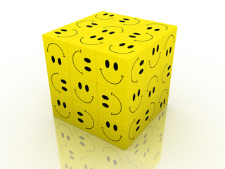 smile emotion face puzzle cube