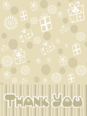 thankyou text on gifts background