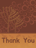brown abstract background with thankyou text