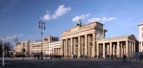 Brandenburger Tor, Berlin, Panorama, Rückseite