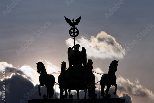 Quadriga, Schattenriss, Berlin