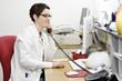Leinwanddruck Bild - Arzthelferin