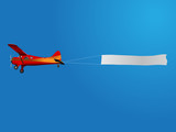 Fototapety plane with banner