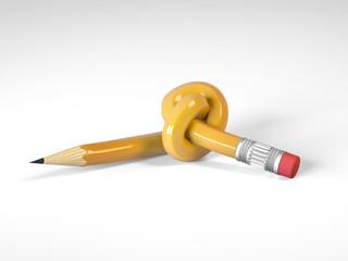 matita gialla annodata