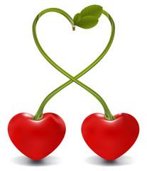raster. cherry heart