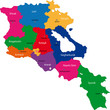 Map of administrative divisions of Republic of Armenia