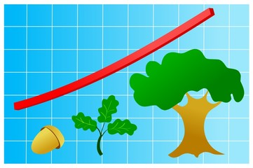 graphic of growth