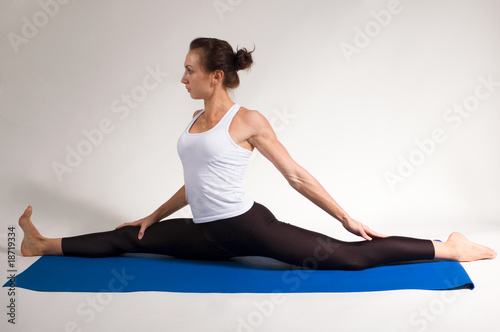set of yogi girl doing exercise
