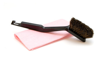 Brush and cloth