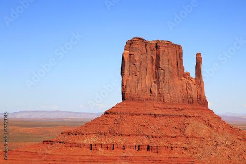 Foto op Canvas Baksteen Monument Valley - West Mitten Butte
