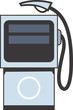 Illustration of a symbol of fuel pump