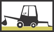 Illustration of a symbol of industrial vehicle