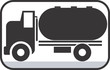 Illustration of a symbol of truck carrying fuel