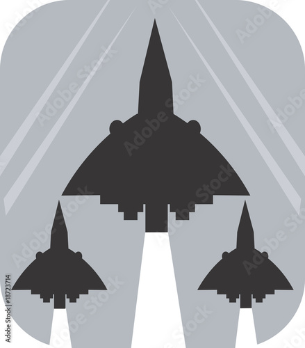 Illustration of a symbol of air show