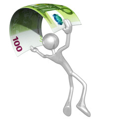 3D Character With Money