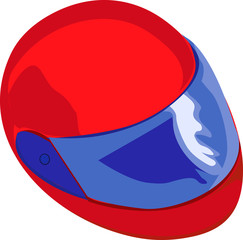 Illustration of helmet