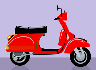 Illustration of a red scooter