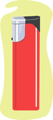 Illustration of a red colour cigarette lighter