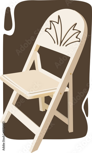 Illustration of a armless chair