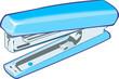 Illustration of a blue colour stapler