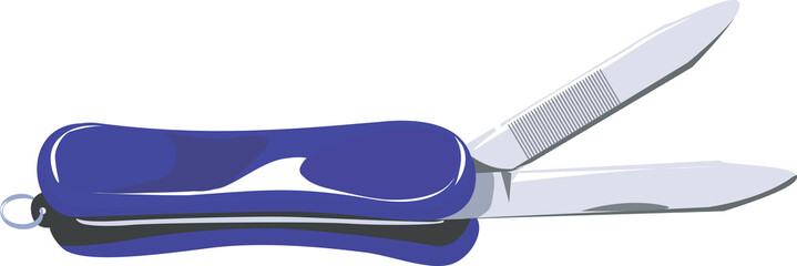 Illustration of a blue metal nail cutter