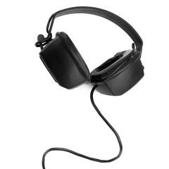 Headphones isolated over white.