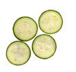 fresh slices of organic zucchini courgette Cucurbita pepo