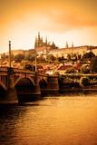 Fototapete Brücke - Skyline - Stadt allgemein
