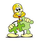 Gold-Figur Puzzle poster