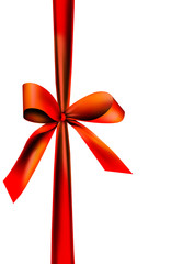 Rote Geschenk Schleife