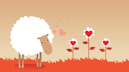 Valentine sheep