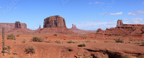 vue panoramique de la région de monument valley