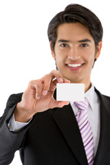 Business man with a personal card