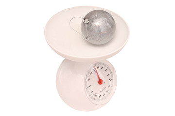 kitchen scale with Christmas-tree decoration