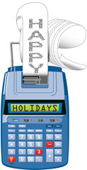 Happy Holidays adding machine