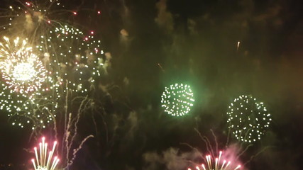great fireworks at night /celebrating annivarsary