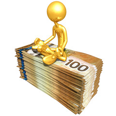 Gold Guy With Money