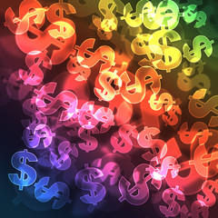 background with symbol of dollars