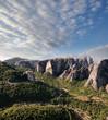 morning on rocks of Meteora, Greece