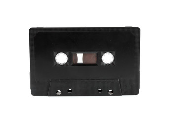 audio cassette tape over white background