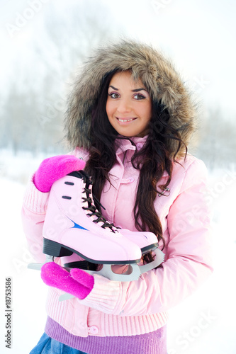 girl going to ice skating