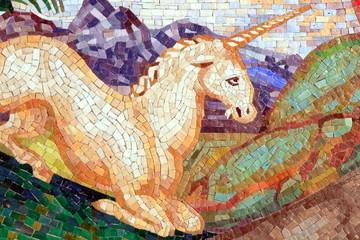 Einhorn, Fabeltier, Scuola Mosaicisti Spilimbergo, Italia