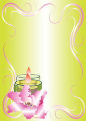 candle with flower