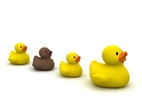Rubber Duck Mama With Ugly Duckling poster