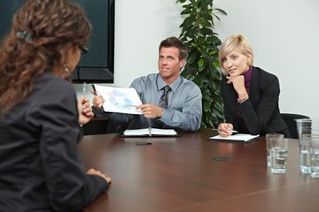 Business people sitting on meeting